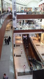 A picture of multiple floors at the Dubai mall