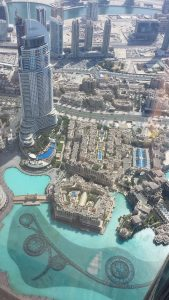Sky View of the Dubai Fountains