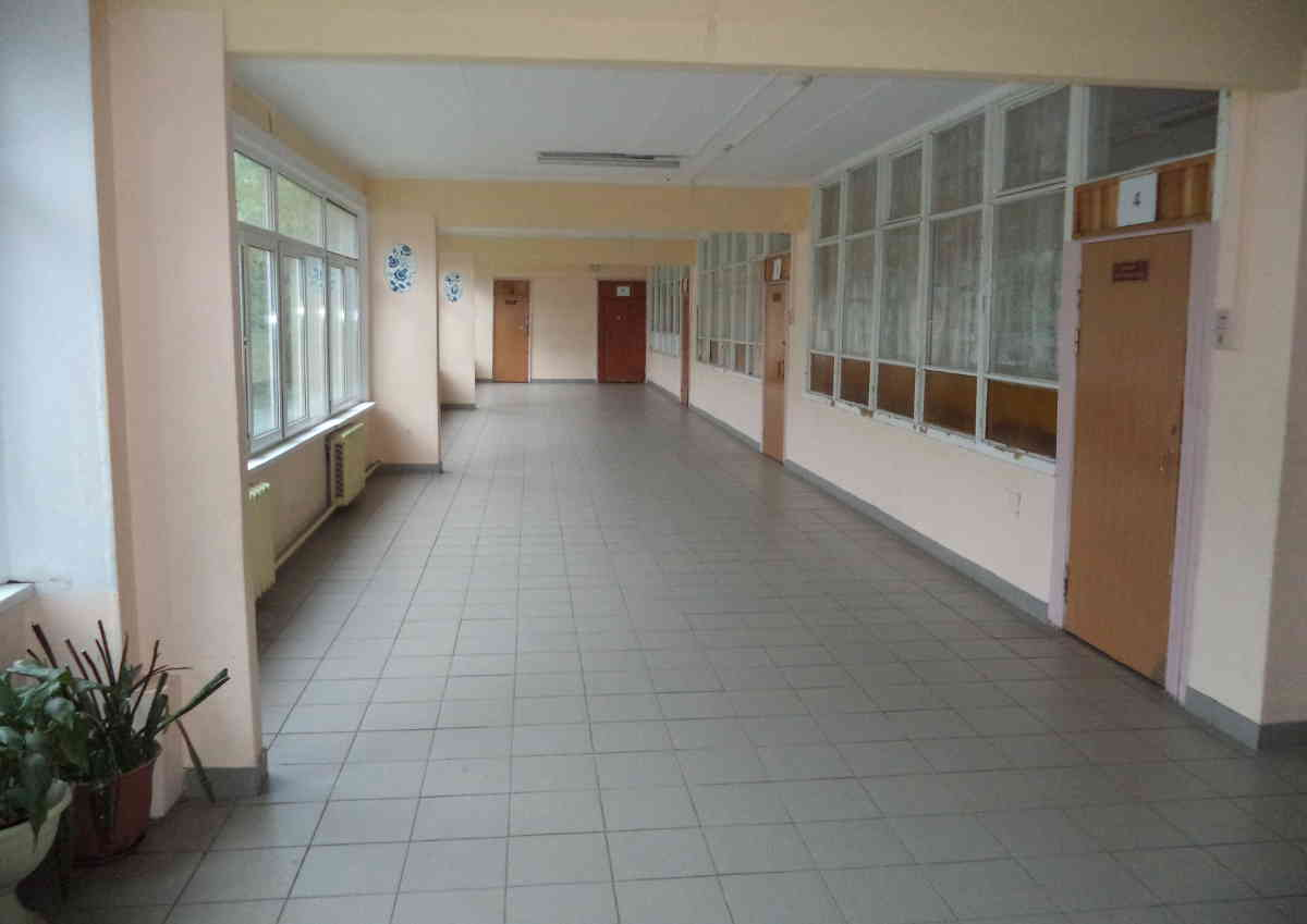 A hall at a Russian public state school