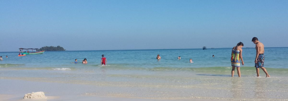 A picture of the beach at Koh Rong Cambodia