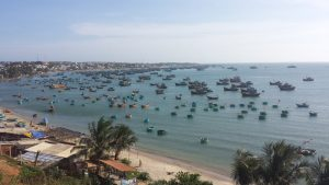 Fishing boats in the Bay at Mui Ne