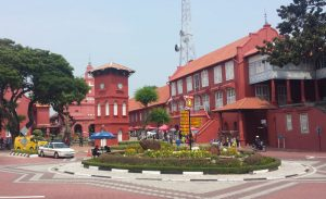 Red Churches in Malacca Malaysia