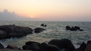Sunrise at Grandfather rock at Koh Samui
