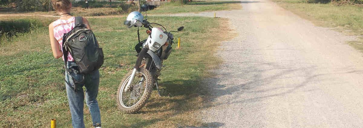 A dirt bike in Cambodia