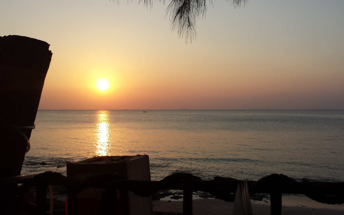 A picture of the Sunset at Koh Lanta Thailand